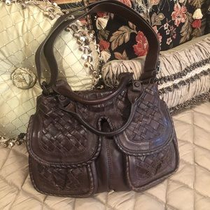 Brown Leather Lockhart Purse